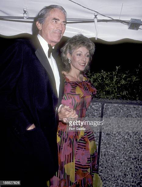 Actor Gregory Peck and wife Veronique Peck attend the A Gift of Music LA Bicentennial Tribute to Men Women of Acheivement on April 25 1981 at...