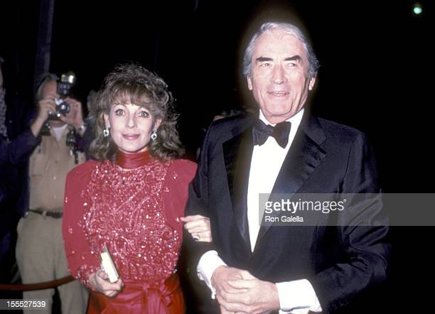 Actor Gregory Peck and wife Veronique Peck attend the American Ballet Theatre Gala on March 4 1985 at Beverly Wilshire Hotel in Beverly Hills...