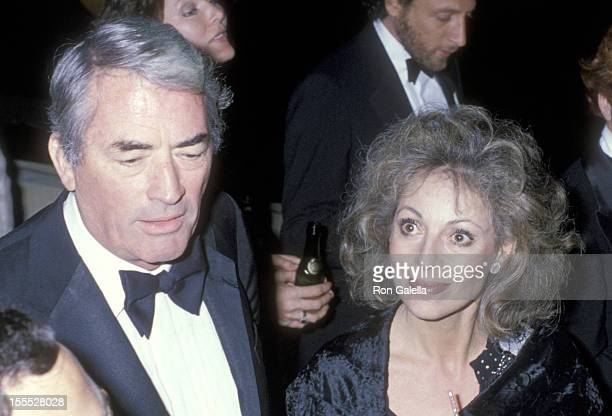 Actor Gregory Peck and wife Veronique Peck attend the Hair Premiere Party on March 14 1979 at ABC Entertainment Center in Century City California