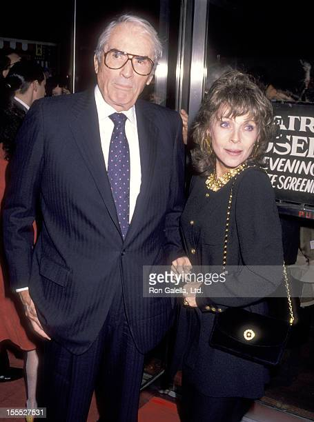 Actor Gregory Peck and wife Veronique Peck attend the Torn Apart New York City Premiere on April 19 1990 at 57th Street Playhouse in New York City...