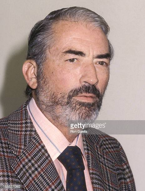 Actor Gregory Peck attends the 16th Annual Hugh O'Brian Acting Awards Competition on October 3 1979 at Ralph Freud Playhouse MacGowan Hall UCLA in...