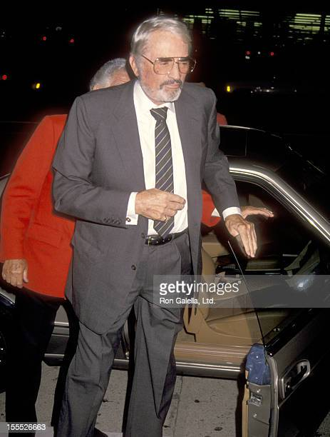 Actor Gregory Peck attends the 17th Wedding Anniversary for Frank Sinatra and Barbara Marx on July 10 1993 at Chasen's Restaurant in Beverly Hills...