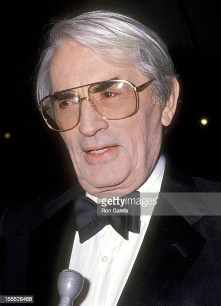 Actor Gregory Peck attends the 18th Annual American Film Institute Lifetime Achievement Award Salute to Sir David Lean on March 8 1990 at Beverly...