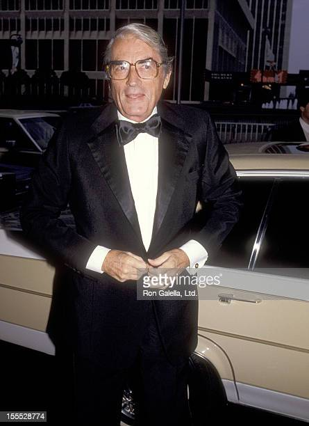 Actor Gregory Peck attends the 1984 Rudolph Valentino Awards on July 3 1984 at Century Plaza Hotel in Los Angeles California