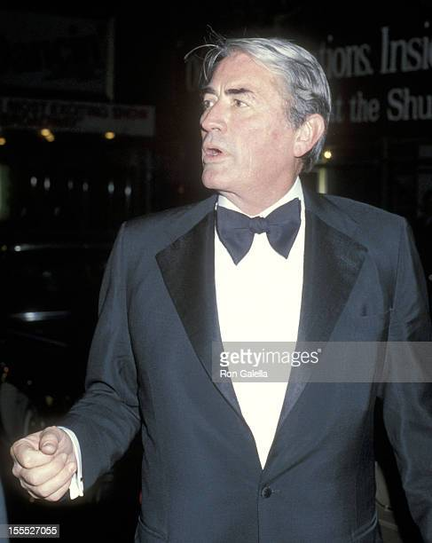 Actor Gregory Peck attends the 33rd Annual Tony Awards on June 3 1979 at Shubert Theatre in New York City