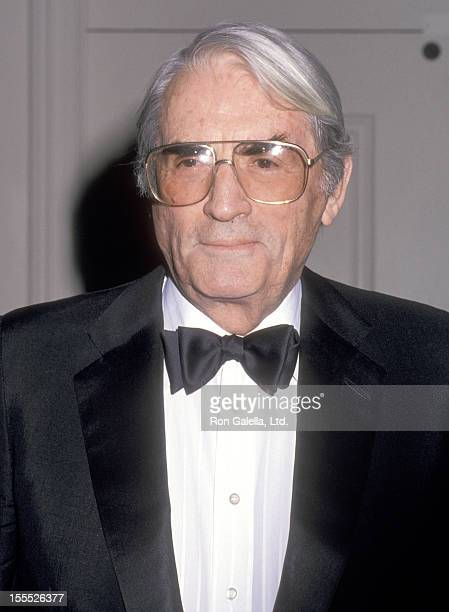 Actor Gregory Peck attends the 41st Annual Writers Guild of America Awards on March 20 1989 at Beverly Hilton Hotel in Beverly Hills California