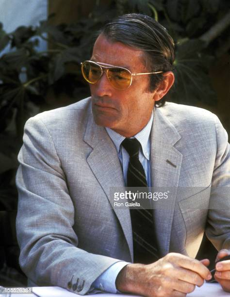 Actor Gregory Peck attends the 42nd Annual Academy Awards Press Conference on April 3 1970 at Beverly Hills Hotel in Beverly Hills California