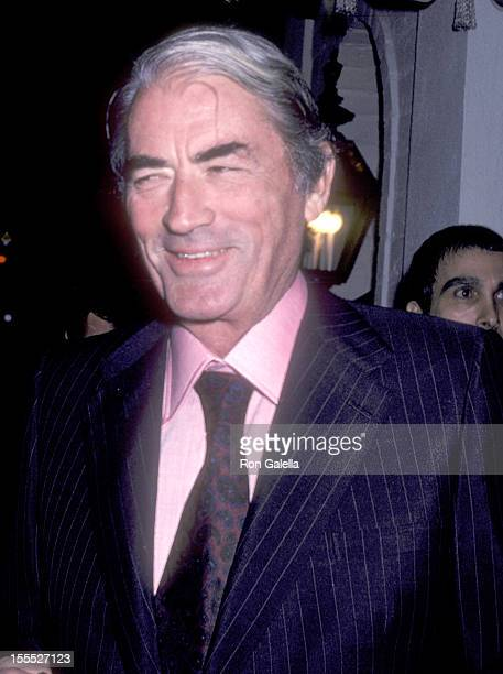 Actor Gregory Peck attends the 52nd Annual Academy Awards PreParty on April 13 1980 at Chasen's Restaurant in Beverly Hills California