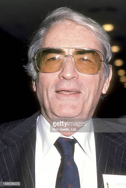 Actor Gregory Peck attends the 57th Annual Academy Awards Nominees Luncheon on March 12 1985 at Beverly Hilton Hotel in Beverly Hills California
