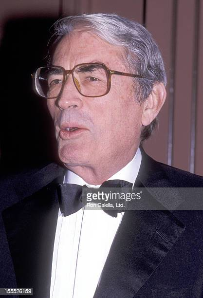 Actor Gregory Peck attends the The American Technion Society's Albert Einstein Award Salute to Zubin Mehta on January 6 1985 at Beverl Hilton Hotel...