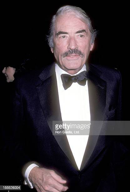 Actor Gregory Peck attends the Women in Show Business Awards on October 19 1985 at Century Plaza Hotel in Los Angeles California