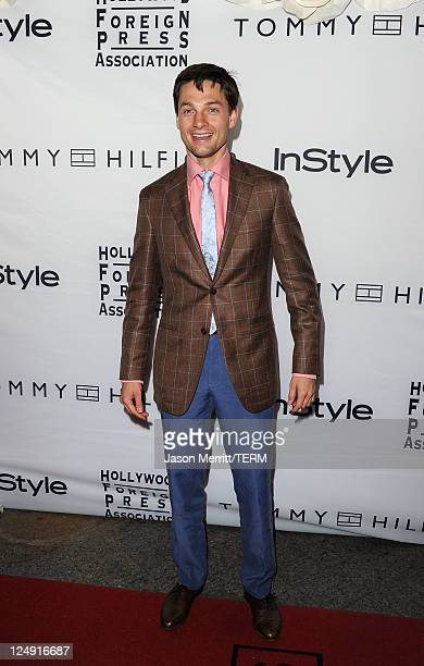 Actor Gregory Smith arrives at the InStyle And The Hollywood Foreign Press Association's Annual Event during the 2011 Toronto International Film...