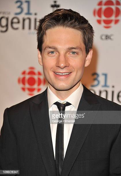 Actor Gregory Smith attends the 31st Annual Genie Awards Gala at the National Arts Centre on March 10 2011 in Ottawa Canada