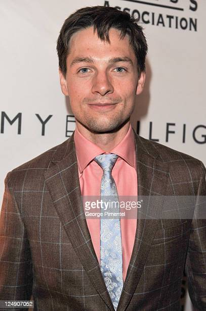 Actor Gregory Smith attends the HFPA And InStyle 2011 Toronto International Film Festival Party at Windsor Arms Hotel on September 13 2011 in Toronto...