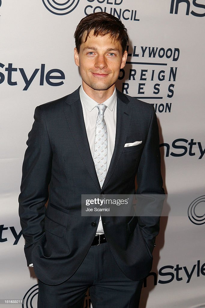 Actor Gregory Smith attends the WGC Hosts Party With InStyle HFPA To Celebrate TIFF at the Windsor Arms Hotel on September 11 2012 in Toronto Canada