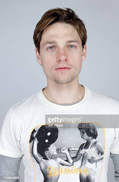 Actor Gregory Smith poses for a portrait during the 2011 Sundance Film Festival at the WireImage Portrait Studio at The Samsung Galaxy Tab Lift on...