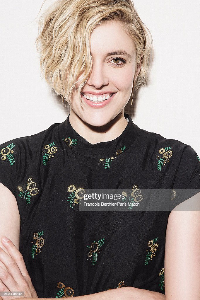 Actor <a gi-track='captionPersonalityLinkClicked' href=/galleries/search?phrase=Greta+Gerwig&family=editorial&specificpeople=4249808 ng-click='$event.stopPropagation()'>Greta Gerwig</a> is photographed for Paris Match on August 4, 2015 in London, England.