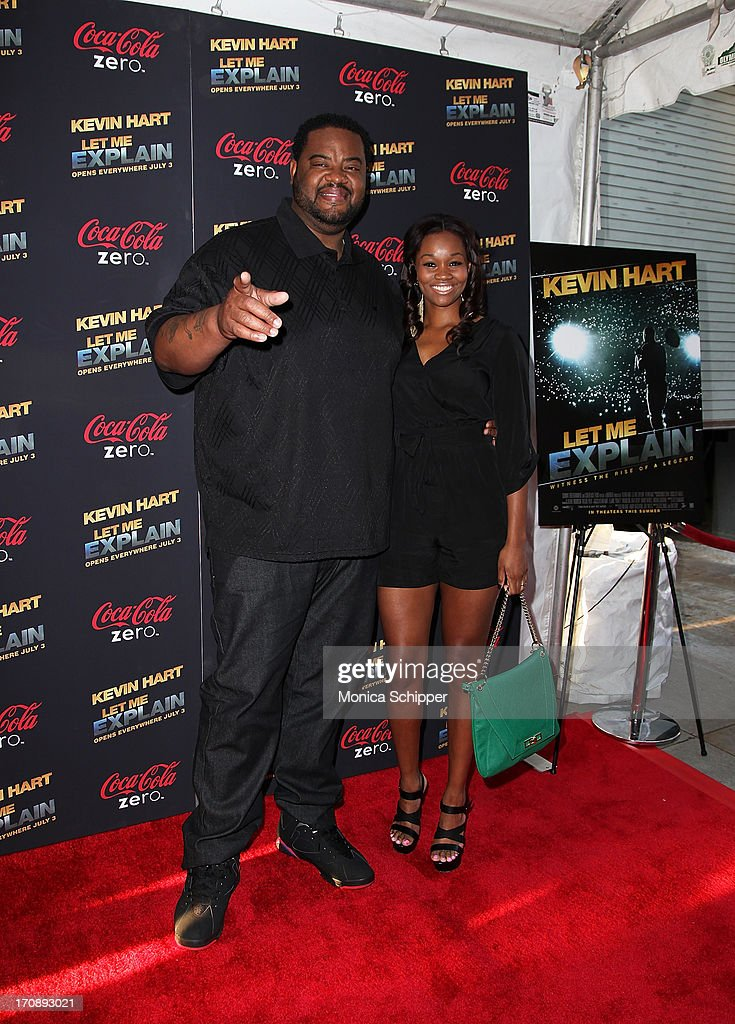 Actor <a gi-track='captionPersonalityLinkClicked' href=/galleries/search?phrase=Grizz+Chapman&family=editorial&specificpeople=4467170 ng-click='$event.stopPropagation()'>Grizz Chapman</a> and China attend the 'Kevin Hart:Let Me Explain' premiere at Regal Cinemas Union Square on June 19, 2013 in New York City.