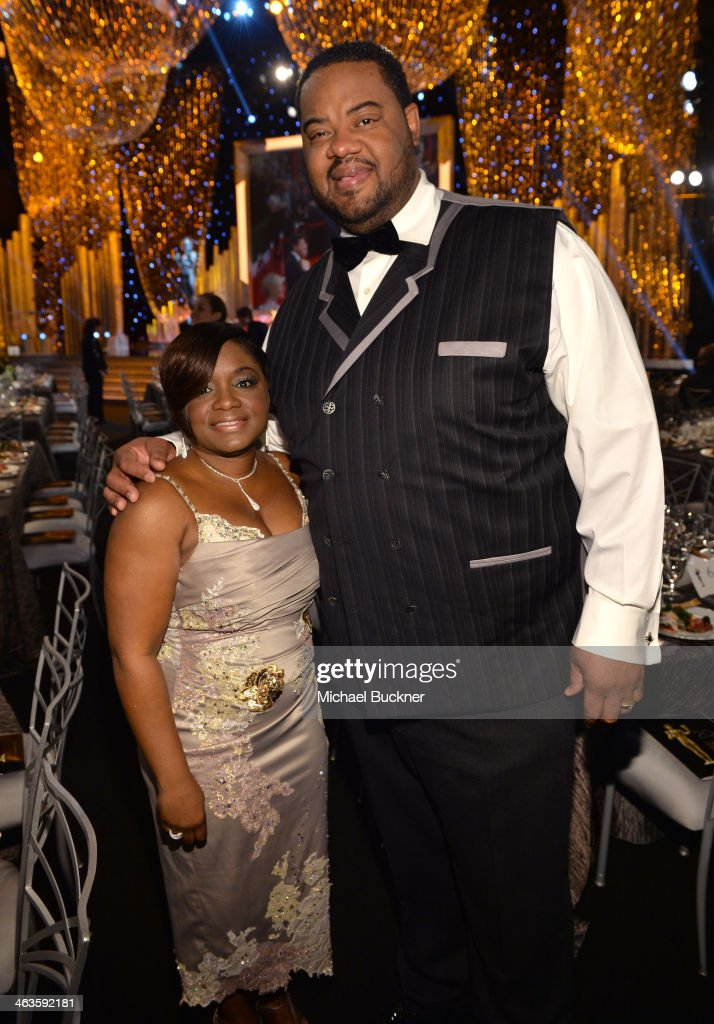 Actor Grizz Chapman and guest attend the 20th Annual Screen Actors Guild Awards at The Shrine Auditorium on January 18 2014 in Los Angeles California