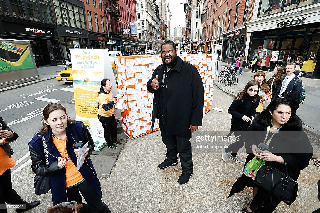Actor Grizz Chapman attends the 2014 International Day Of Happiness at Union Square on March 20 2014 in New York City