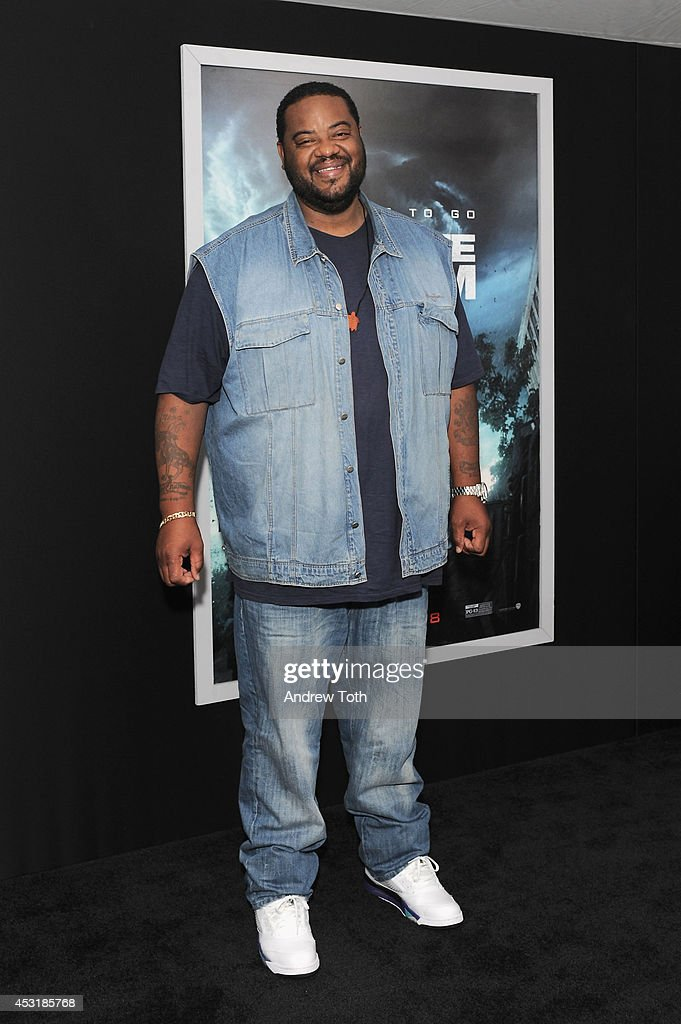 Actor Grizz Chapman attends the 'Into The Storm' premiere at AMC Lincoln Square Theater on August 4 2014 in New York City