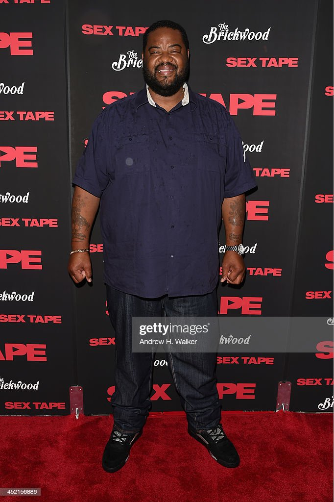 Actor Grizz Chapman attends the 'Sex Tape' screening at Regal Union Square on July 14 2014 in New York City