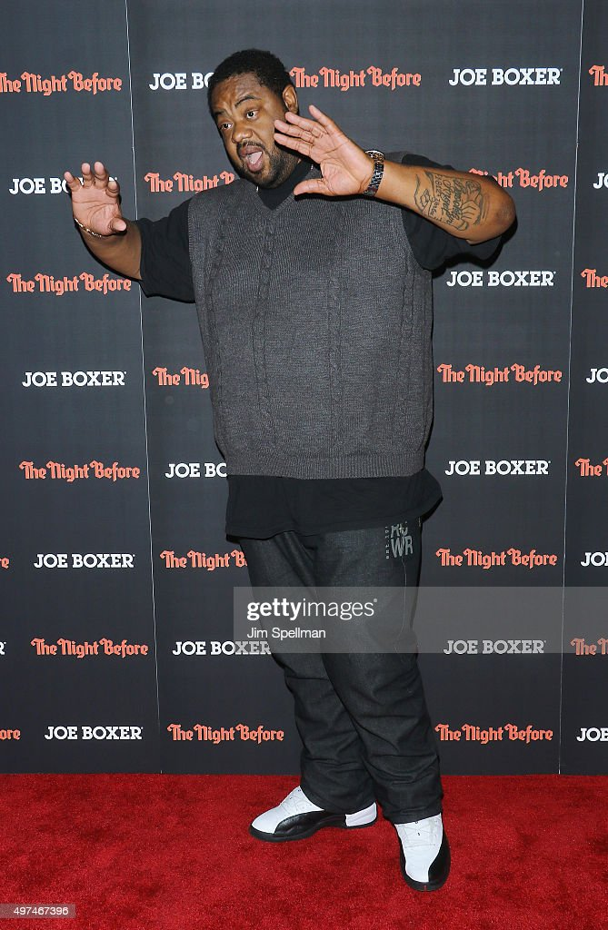 Actor Grizz Chapman attends the 'The Night Before' New York premiere at Landmark Sunshine Cinema on November 16 2015 in New York City