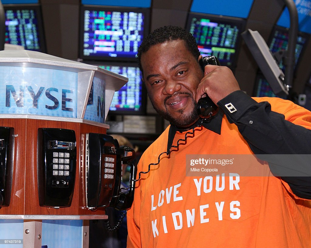 Actor Grizz Chapman rings the opening bell at the New York Stock Exchange on March 4 2010 in New York City