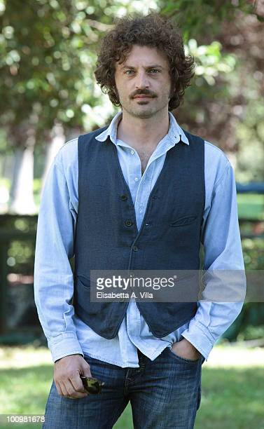 Actor Guido Caprino attends 'Sono Viva' photocall at Villa Borghese on May 26 2010 in Rome Italy