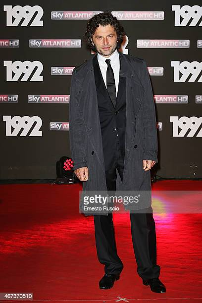 Actor Guido Caprino attends the '1992' Tv Movie premiere at The Space Moderno on March 19 2015 in Rome Italy