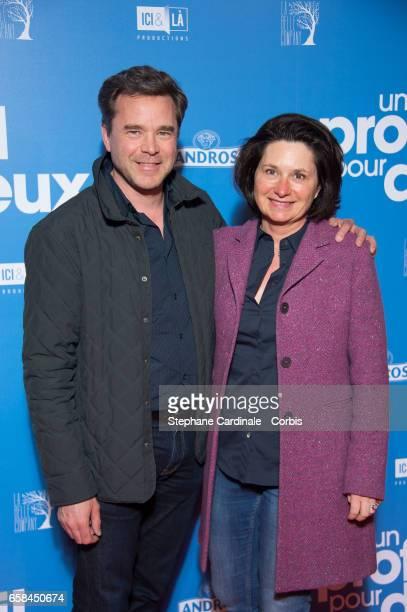 Actor Guillaume de Tonquedec and his wife Christele de Tonquedec attend the 'Un Profil Pour Deux' Premiere at Cinema UGC Normandie on March 27 2017...