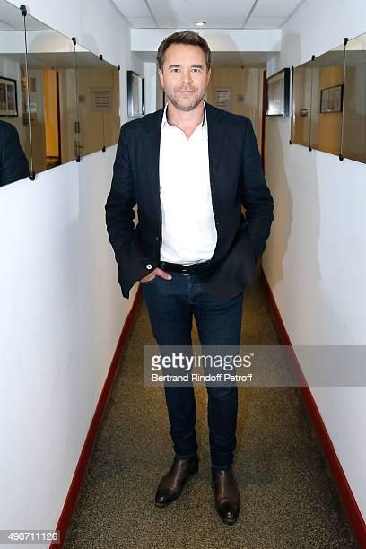 Actor Guillaume de Tonquedec presents the Movie 'Belles familles' during the 'Vivement Dimanche' French TV Show at Pavillon Gabriel on September 30...
