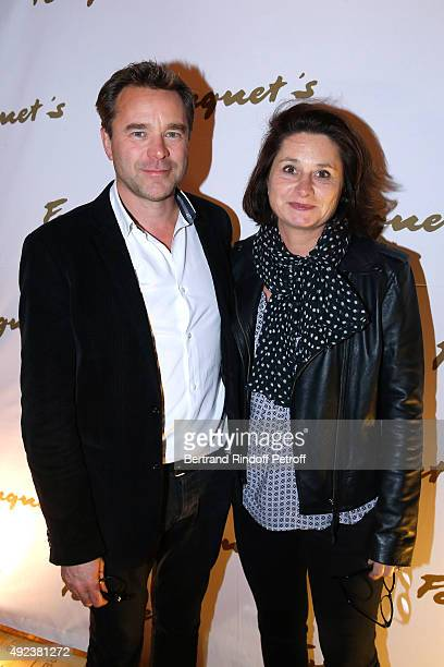 Actor Guillaume de Tonquedec with his wife Christele attend the Fouquet's Paris Restaurant presents its Menu 'Twisted' by the Chef Pierre Gagnaire...