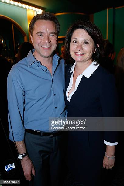 Actor Guillaume de Tonquedec with his wife Christelle attend 'La 28eme Nuit des Molieres' on May 23 2016 in Paris France