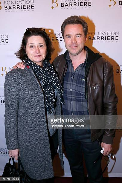 Actor Guillaume de Tonquedec with his wife Christelle attend the Theater Price 2015 of Foundation Diane Lucien Barriere given to the Theater Piece...
