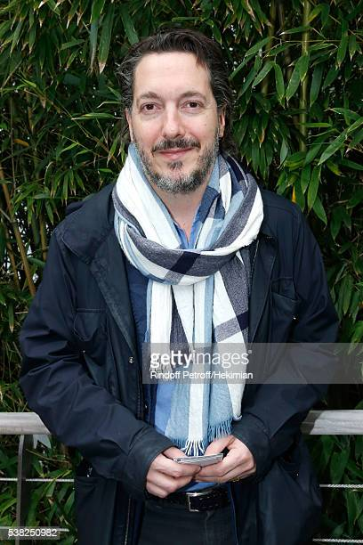 Actor Guillaume Gallienne attends Day Fifteen Men single's Final of the 2016 French Tennis Open at Roland Garros on June 5 2016 in Paris France