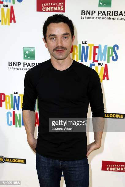 Actor Guillaume Gouix poses during Photocall 'Printemps du Cinema 2017' Press Conference at Studio Harcourt on March 7 2017 in Paris France
