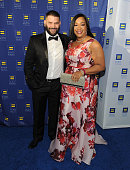 Actor Guillermo Diaz and Honoree Shonda Rhimes attend the Human Rights Campaign Los Angeles Gala 2015 at JW Marriott Los Angeles at LA LIVE on March...