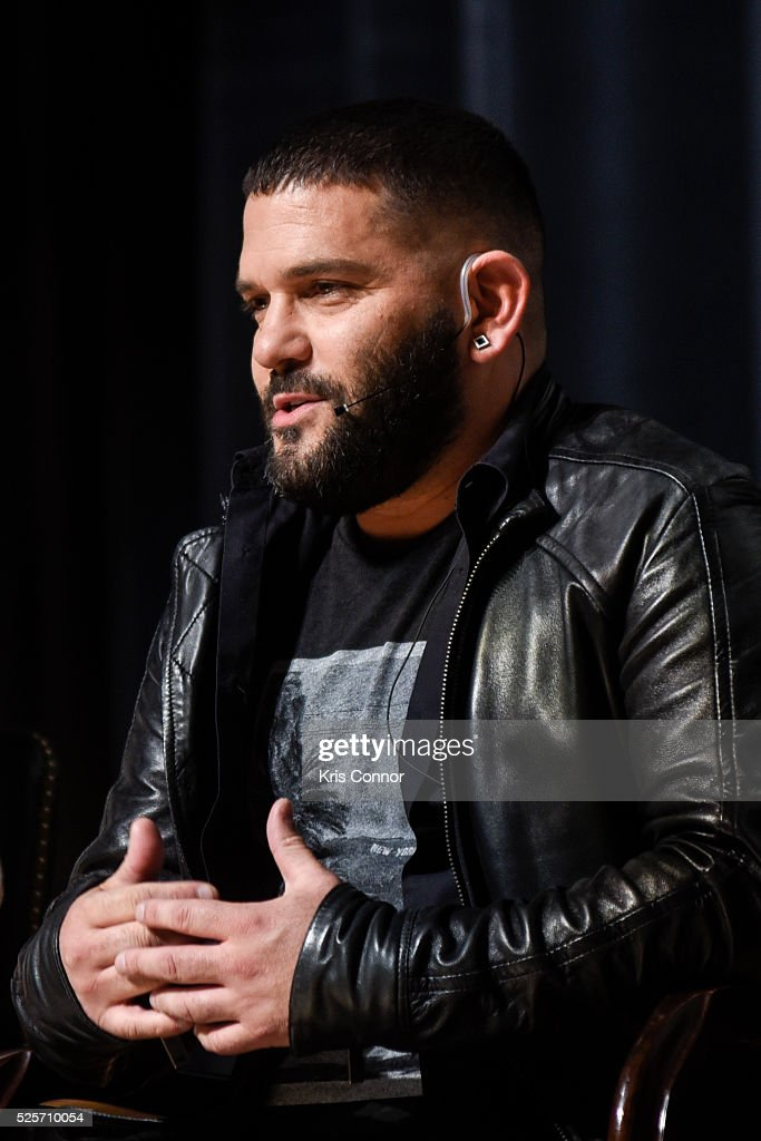 Actor Guillermo Diaz speaks during the 'Scandal-ous!' event hosted by the Smithsonian Associates with Shonda Rhimes and the cast of ABC's Scandals at the University of District of Columbia Theater of the Arts on April 28, 2016 in Washington, DC.