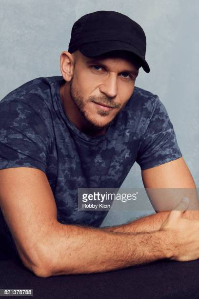 Actor Gustaf Skarsgard from History's 'Vikings' poses for a portrait during ComicCon 2017 at Hard Rock Hotel San Diego on July 21 2017 in San Diego...