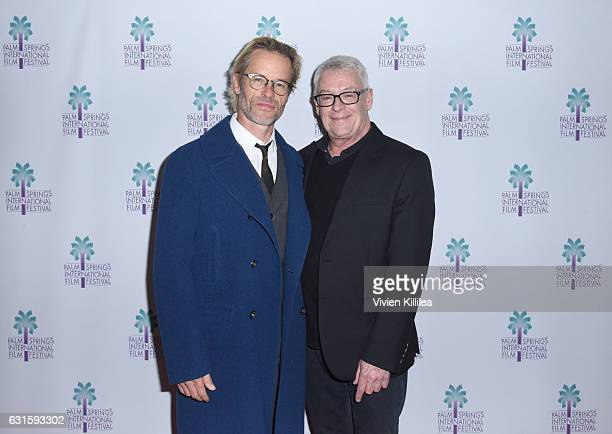 Actor Guy Pearce and activist Cleve Jones attend the North American Premiere of 'When We Rise' at the 28th Annual Palm Springs International Film...