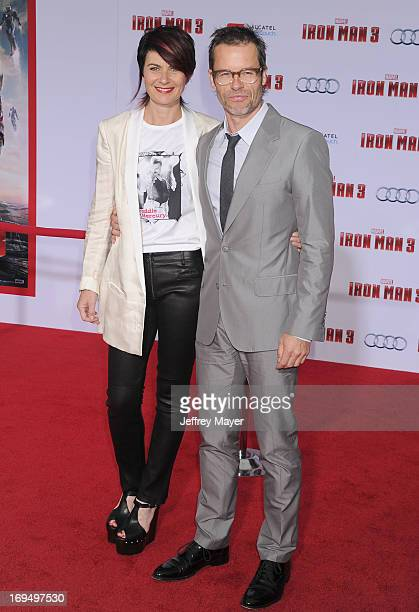 Actor Guy Pearce and wife Kate Mestitz arrive at the 'Iron Man 3' Los Angeles Premiere at the El Capitan Theatre on April 24 2013 in Hollywood...