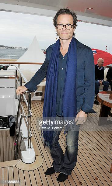 Actor Guy Pearce attends a lunch hosted by Len Blavatnik Harvey Weinstein and Warner Music during the 65th Cannes Film Festival on board the Odessa...