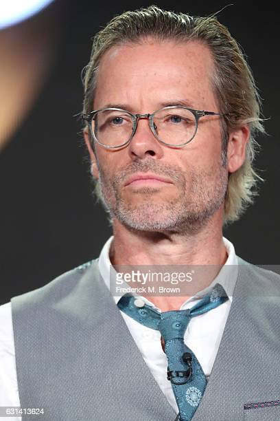 Actor Guy Pearce of the television show 'When We Rise' speaks onstage during the DisneyABC portion of the 2017 Winter Television Critics Association...