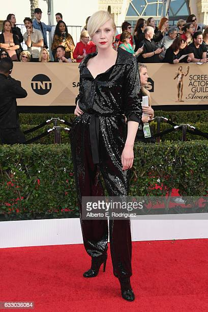 Actor Gwendoline Christie attends the 23rd Annual Screen Actors Guild Awards at The Shrine Expo Hall on January 29 2017 in Los Angeles California