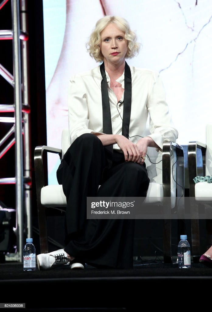 Actor Gwendoline Christie of 'Top of the Lake: China Girl' speaks onstage during the SundanceTV portion of the 2017 Summer Television Critics Association Press Tour at The Beverly Hilton Hotel on July 29, 2017 in Beverly Hills, California.