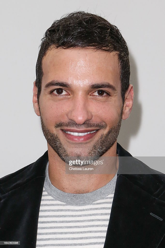 Actor Haaz Sleiman arrives at the 'Dorfman in Love' premiere at Downtown Independent Theatre on March 21, 2013 in Los Angeles, California.