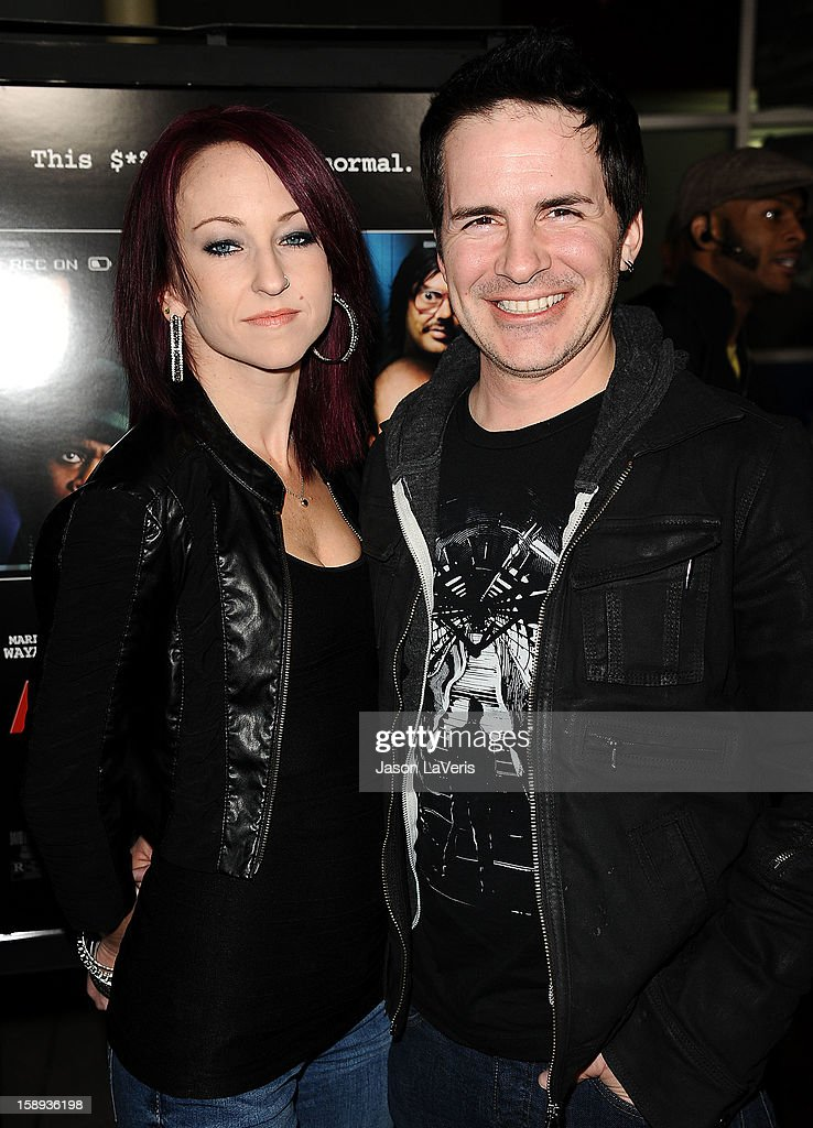 Actor Hal Sparks (R) and guest attends the premiere of 'A Haunted House' at ArcLight Hollywood on January 3, 2013 in Hollywood, California.