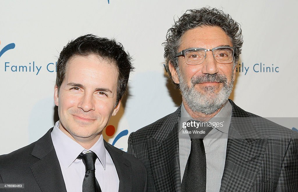 Actor Hal Sparks (L) and Producer Chuck Lorre attend the Venice Family Clinic's 32nd Annual Silver Circle Gala held at The Beverly Hilton Hotel on March 3, 2014 in Beverly Hills, California.