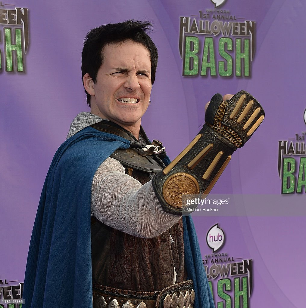 Actor <a gi-track='captionPersonalityLinkClicked' href=/galleries/search?phrase=Hal+Sparks&family=editorial&specificpeople=213158 ng-click='$event.stopPropagation()'>Hal Sparks</a> arrives at Hub Network's First Annual Halloween Bash at Barker Hangar on October 20, 2013 in Santa Monica, California.